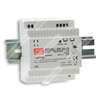 LED Power Supply 30 Watts Mean Well PLC-30-24 Single Output 24v